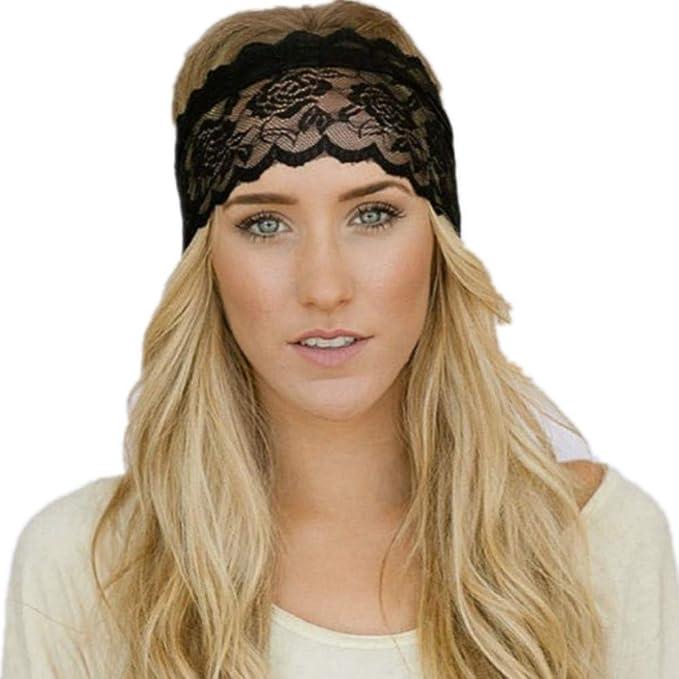 336f4350070a3c Neu Elastisches Spitze Headband Sport Stirnband Kopfband, LEEDY Einfarbig  Alltag Yoga Fitness Haarband Beim Jogging Laufen Wandern Stirnbänder, ...