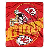 "Northwest NFL Kansas City Chiefs Grand Stand Raschel 50 x 60"" Throw Blanket"