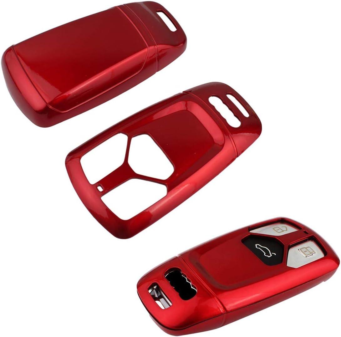 2016-up Coque de protection pour t/él/écommande intelligente /à 3 boutons Audi TT Rouge TOMALL Cle House pour Audi 2017-up Audi A4 A5 Q7