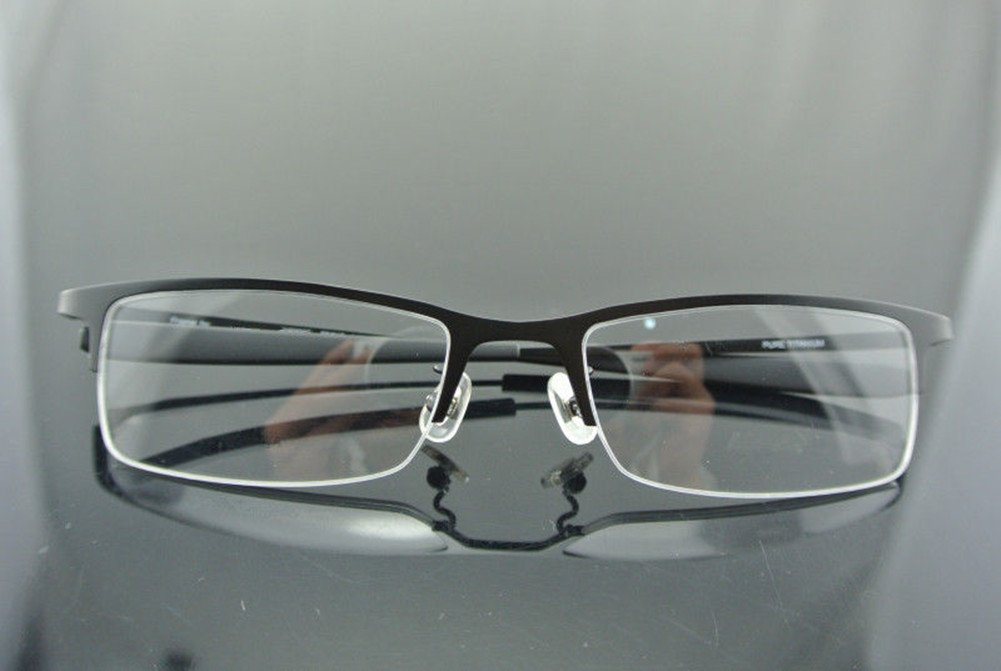 Amazon.com: 100% Pure Titanium Men Glasses Optical Frames Spectacle ...
