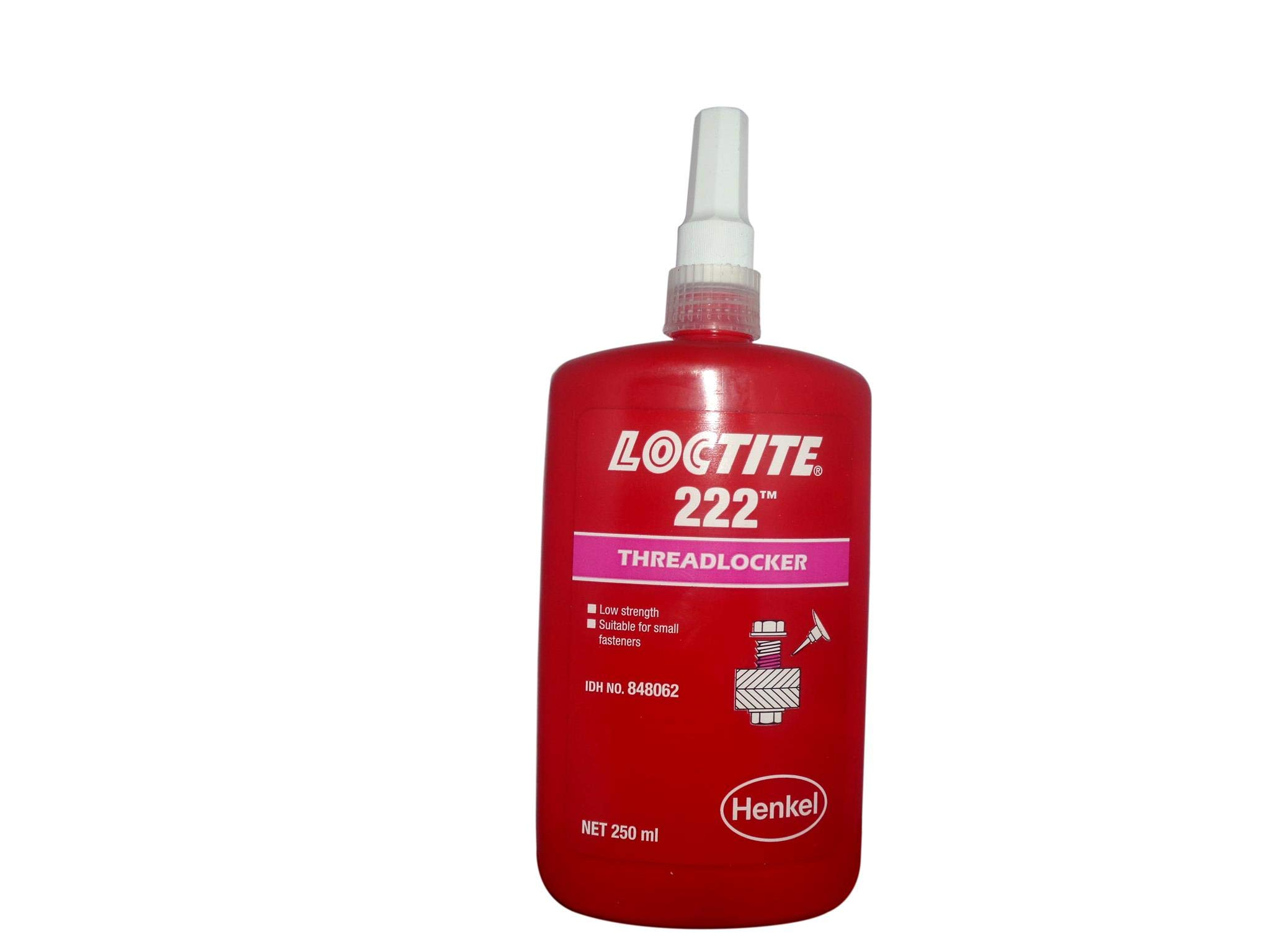 Genuine Henkel Loctite 222 X 250ml Low Strength - Threadlocker - All Metal Adhesive - Glue by Loctite (Image #1)