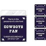 Tree-Free Greetings NC38115 Cowboys Football Fan 4-Pack Artful Coaster Set