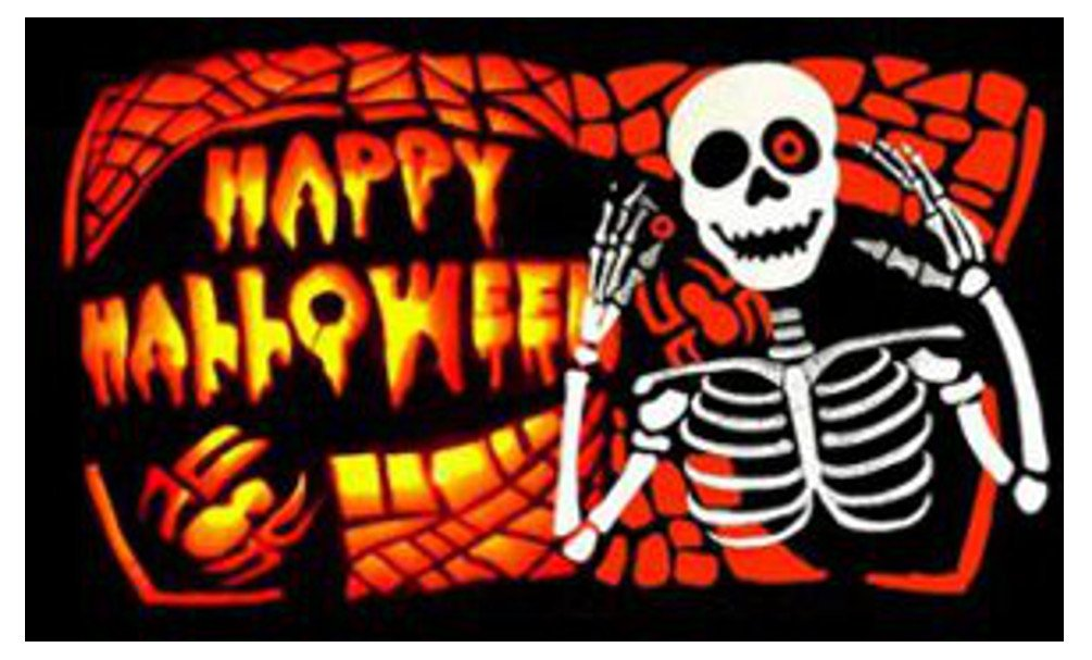 Halloween Bones Flag 5ft x 3ft