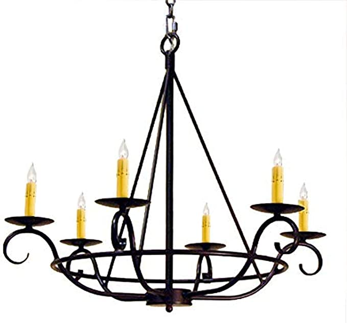 Meyda 115989 Six Light Chandelier From Estrella Collection 7 25 Inches