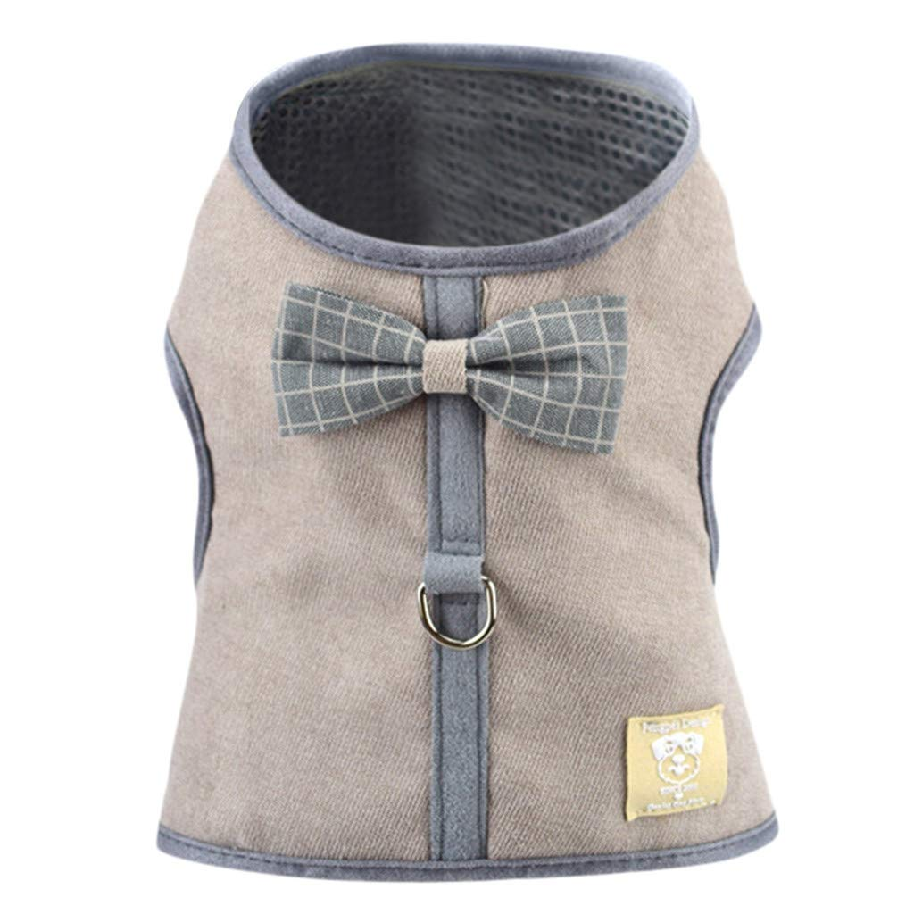 Amazon.com : BingYELH Dog Harness Vest, Corduroy Mesh Bowknot Pet Dogs Adjustable Strap Breathable Soft Vest for Travel Walking Daily Use : Pet Supplies