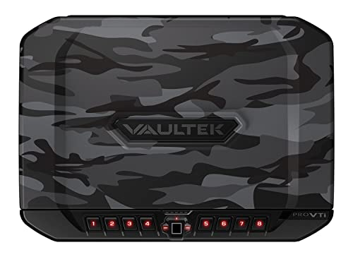 VAULTEK PRO VTi Full-Size Biometric Handgun Safe Smart Multiple Pistol Safe with Auto-Open Lid and Rechargeable Battery