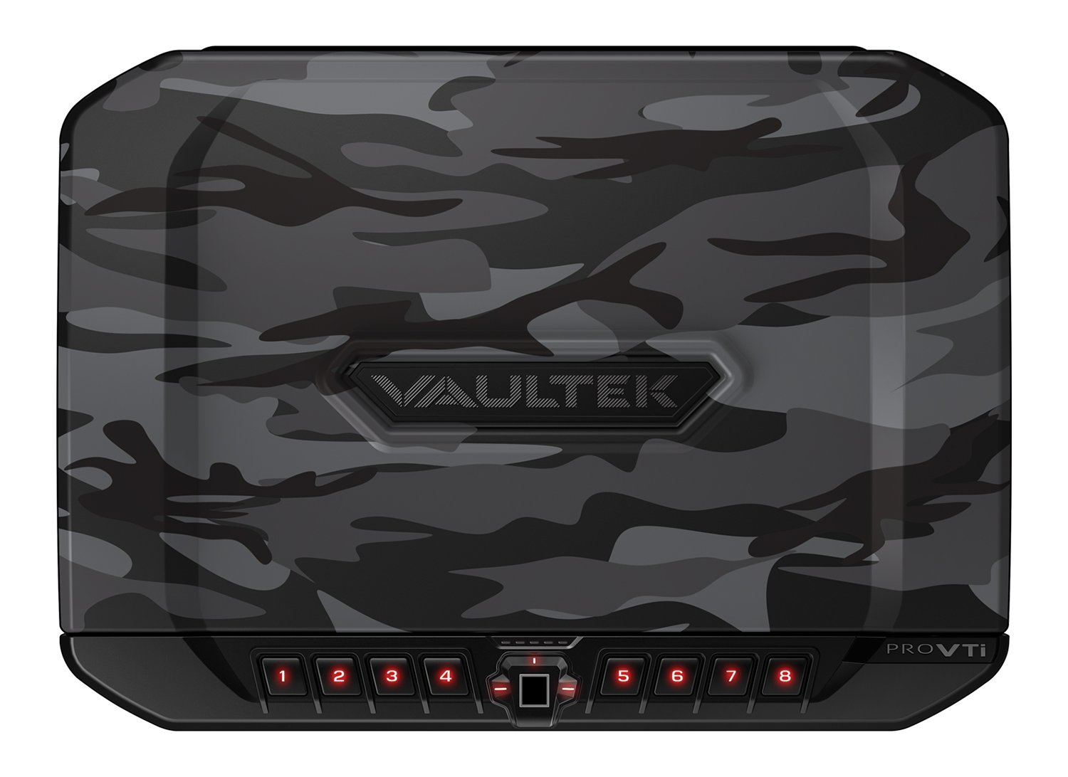 VAULTEK PRO VTi Full-Size Biometric Handgun Safe Bluetooth Smart Multiple Pistol Safe with Auto-Open Lid and Rechargeable Battery (Camo)