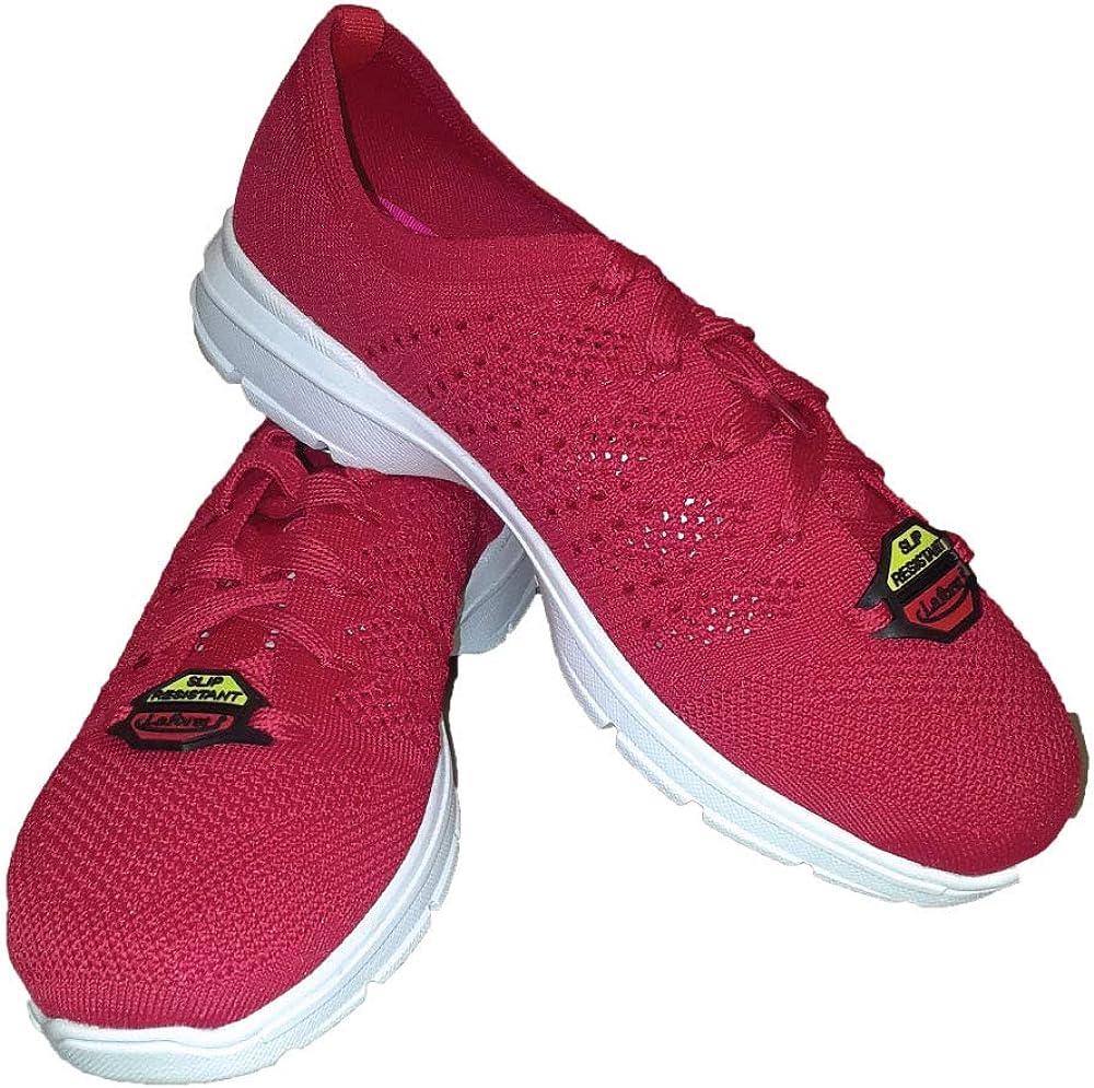 Red Knit Slip Resistant Shoe- Jasmine