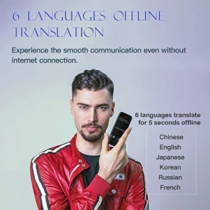 JoneR AI Language Translator Device with 3 1 Inch Touch Screen, Andriod 7 0  System, Support Accents Recognize,Photo or Offline Voice Translations for