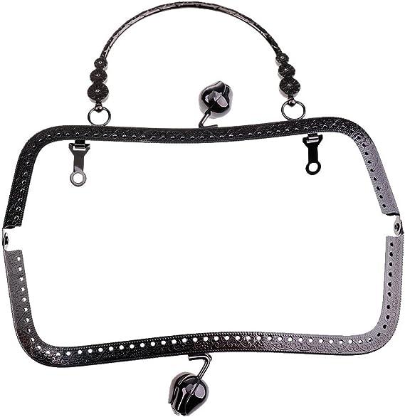 Baoblaze 20cm Metallo Arch Frame Chiusura Accessori per Borsa Craft Artigianato Fai Da Te Oro chiaro