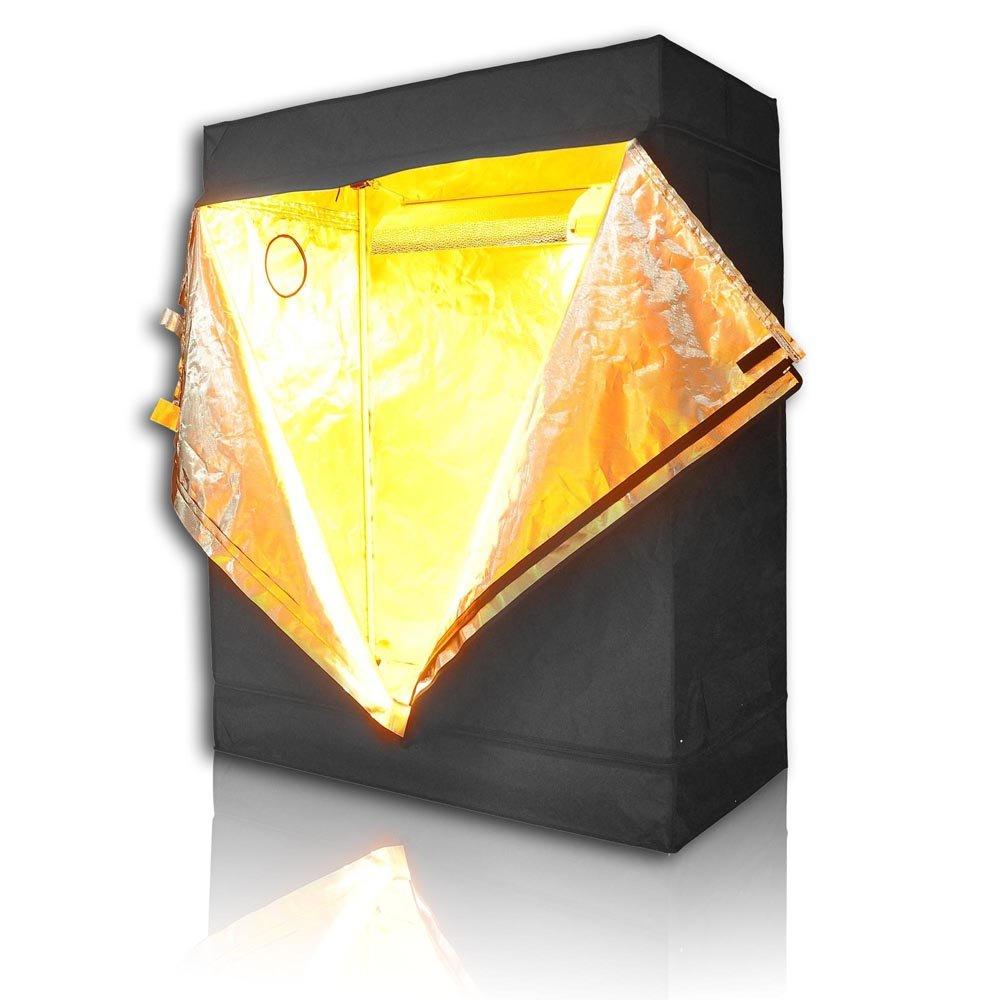 LAGarden 48''x24''x60'' 100% Reflective Diamond Mylar Hydroponics Indoor Grow Tent Non Toxic Planting Room 4x2x5FT