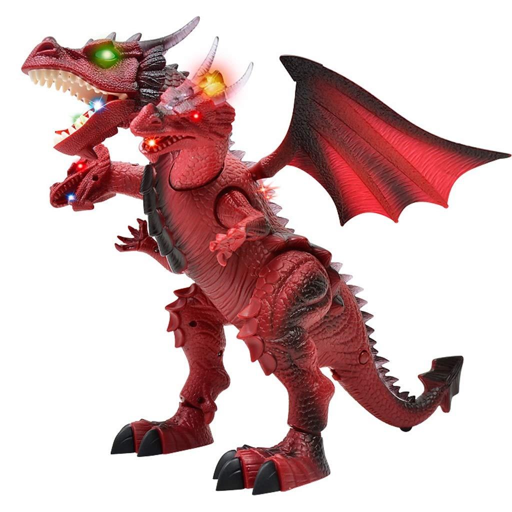 online barato JXJJD Juguete de Dinosaurio eléctrico de Control Remoto Inteligente Inteligente Inteligente para niños con Tres Cabezas de dragón. (Color   rojo)  distribución global