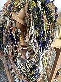 Handspun yarn- art yarn-coil spun- wool handspun yarn-wool- 1 skeins-120 yds- knitting- knit- knitting supplies- crochet- felting- wool yarn