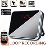 1080P HD WiFi Spy Clock Camera - Covert Surveillance Video Recorder Support Smartphone Remote View, 24/7 Days Continuous Recording, 16GB Memory Card Built-in