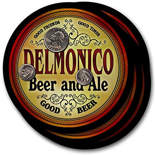 Delmonicoビール& Ale – 4パックドリンクコースター   B003QX8Z50