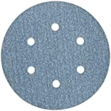 Norton 3X High Performance Hook and Sand Paper Discs with 6 Hole, Ceramic Alumina, 6 Diameter, Grit P150 Fine (Pack of 10) by Norton Abrasives - St. Gobain