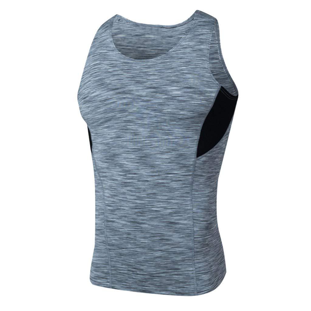 2019 Mens Summer Fast-Dry Vest Sports Fitness Breathable Male Tank Tops Beautyfine