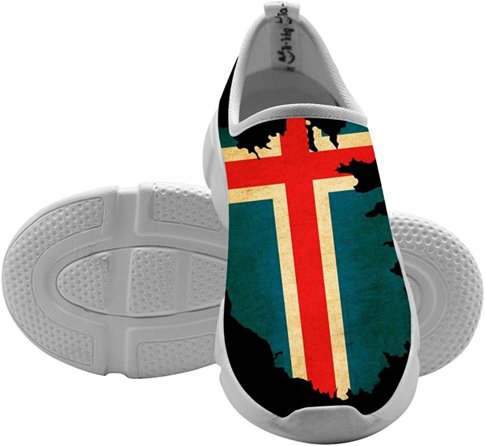 QsvMo Iceland Kids Shallow Leisure Shoe Unique Footwear