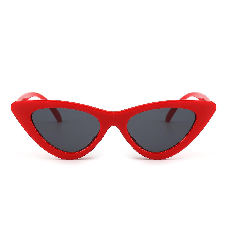 JM Gafas de Sol Retro Ojos de Gato Clout Goggles Lentes Lindos Plásticos Teñido Anteojos Mujer