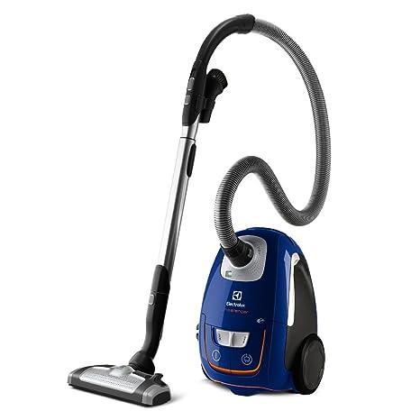 Electrolux ZUSORIGDB+ Aspiradora silenciosa con bolsa y cepillo AeroPro Parketto Pro, 700 W, 3.5 litros, 61 Decibelios, Azul