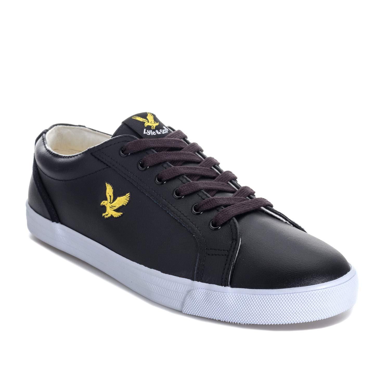 ad1ca5ed03669 Amazon.com: Lyle & Scott Halket Mens Sneakers Black: Clothing