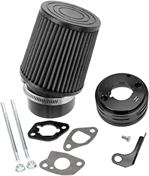 Air Filters HIAORS Black Air Filter Gasket Adapter Intake Kit for ...