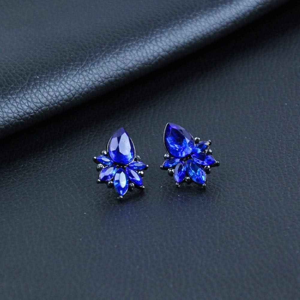 SSEHL Pendientes Pendientes de Mujer Gota de Agua Pendientes de Cristal 3 Colores Pendientes Largos Simples para Las Mujeres Charm Joyería de Moda