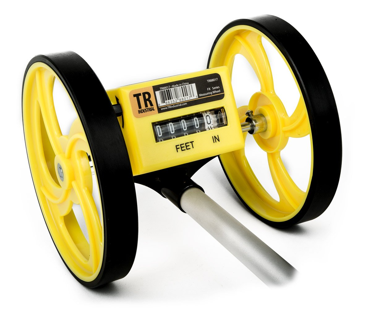 TR Industrial TR88017 FX Series Collapsible Measuring Wheel, Yellow/Black by TR Industrial