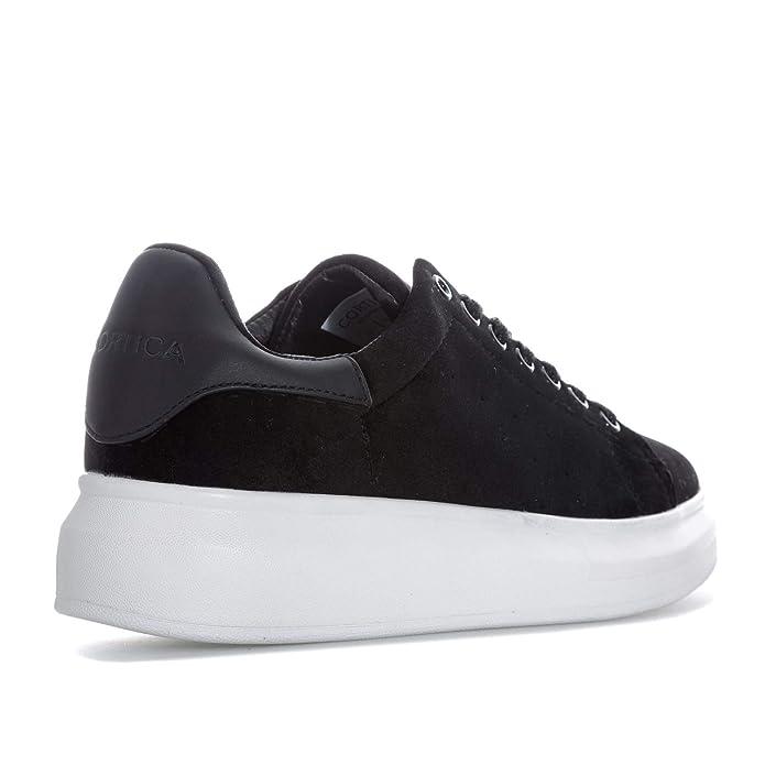 Style classique détails pour pour toute la famille Cortica Womens Motto Plus 119 Velvet Trainers in Black ...