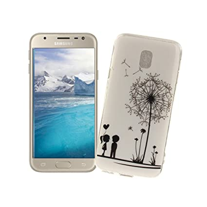 AllDo Funda Silicona para Samsung Galaxy J3 2017 SM-J330F Carcasa Protectora Caso Suave TPU Funda Ultra Delgado Carcasa Flexible Ligero Caja Anti ...