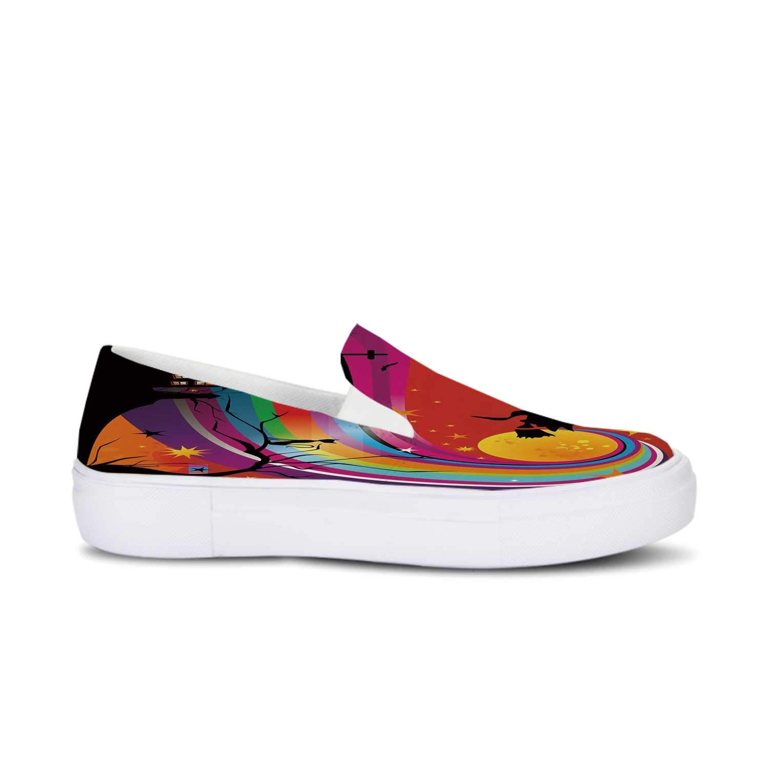 Amazon Com Halloween Durable Canvas Slip On Shoes Witch