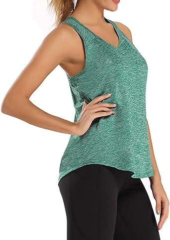 Allenamento T-Shirt Sport Running Canotte Donna Sportive,ITISME Top Donna Fitness Senza Maniche Casual Traspirante Canottiera Tank per Yoga Corsa Palestra