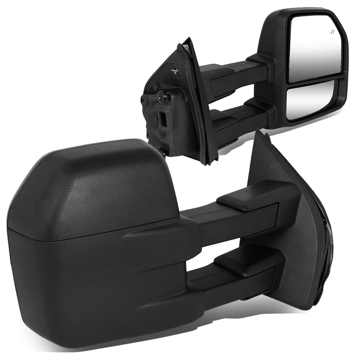 Pair Powered Side Rear View Towing Mirror w/Heated for 15-18 Ford F150