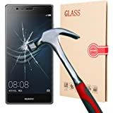 BACAMA 2.5D Round Edge Tempered Glass Screen Protector 0.3mm Ultra Thin for Huawei P9 with 9H Hardness/Anti-scratch/Fingerprint resistant