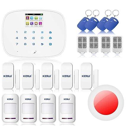 KERUI G19 pantalla LCD Seguridad inalámbrica GSM Autodial SMS hogar sistema de alarma antirrobo anti-intrusion, ...