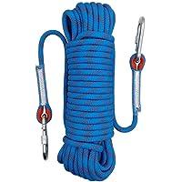 Cuerda De Seguridad Para Escalar Al Aire Libre Profesional, Diámetro 10 Mm, 12KN Tire De Alta Resistencia Cable De Cuerda Para Escalar Cuerda De Equipo Para Rescate De Incendios, Montañismo, Escalada En Roca,5M