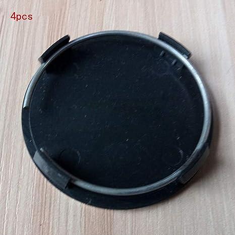 Ainstsk - Juego de 4 tapacubos para Llantas de Coche, Universal, Color Negro,
