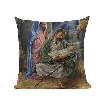 SSNT 2 Almohadas Pintura al óleo de fama Mundial María Jesús ...