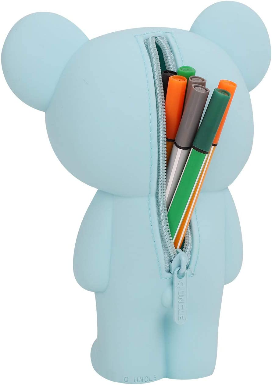 Kinder Federm/äppchen Niedlich Kaninchenform Silikon Federtasche Stiftemappe Stiftetasche Griffelmappe Pencil Case Damen M/ädchen Kosmetik Tasche