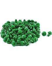 uxcell 100 Pcs Plastic Rivet 9mm Hole Car Door Trim Panel Retainer Clip Green