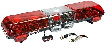 Red Lens 3610-R Wolo Power Beam Halogen Rotating Emergency Warning Light