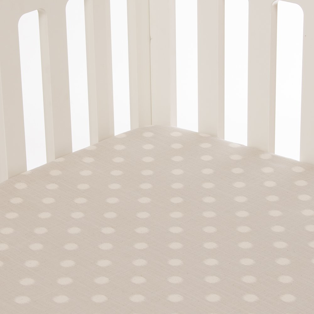 Glenna Jean Florence Dot Fitted Sheet, Grey/Cream by Glenna Jean   B00HZLHMSK