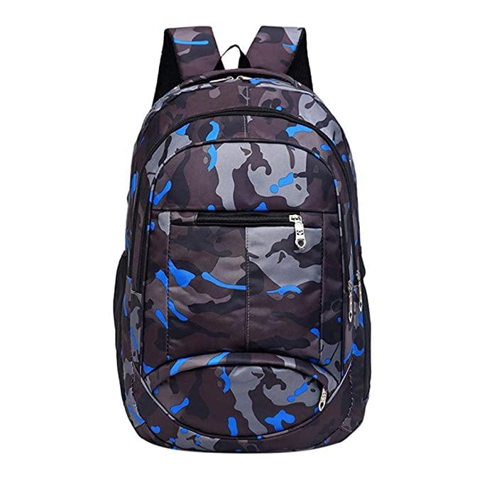 Mysky Fashion Teenage Girls Boys Students School Bags Camouflage Printing Backpack  Travel Backpack (Black dc681402f0244