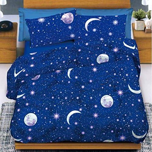 Completo sábanas matrimonio luna estrellas cielo planetas 100 ...