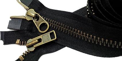 """YKK #10 2-Way Metal Chap Zipper 24/"""""""