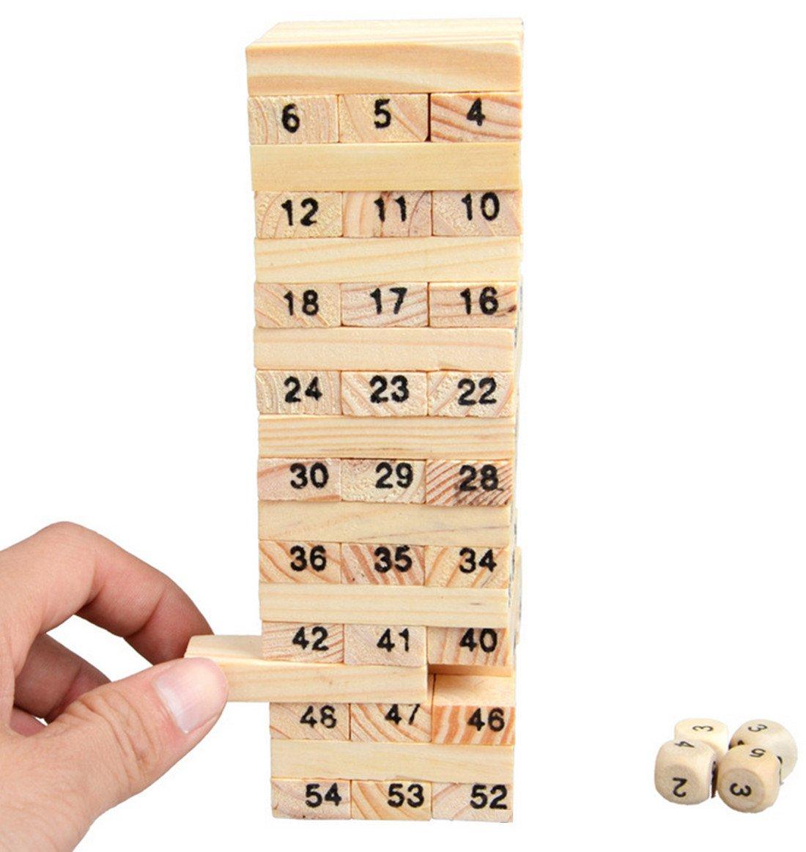 【ギフト】 VANCIC 54 PCS Baby Bricks & Intellectual Child Wooden by Handmade Stacking Toys Building Blocks Bricks Toys Intellectual Toys by VANCIC B01N69OIOA, 水晶工房 Crystal Factory:c9faac38 --- dou13magadan.ru