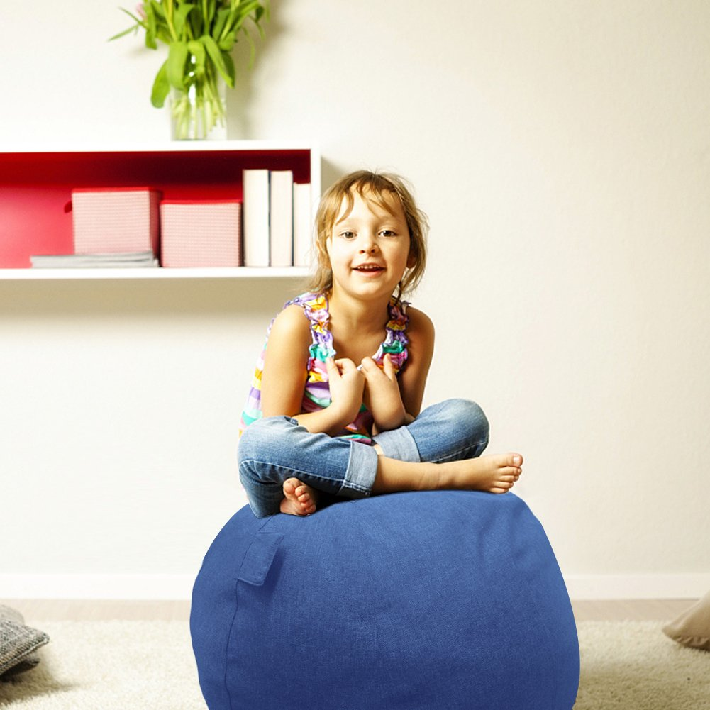 Neustern Balance Ball Cover -Sitting Ball Chair Cover for Yoga, Office, Pilates, Birthing Ball Professional Quality Design Exercise Ball Chair with Handel Machine Washable (Navy Blue, 65cm) by Neustern (Image #5)