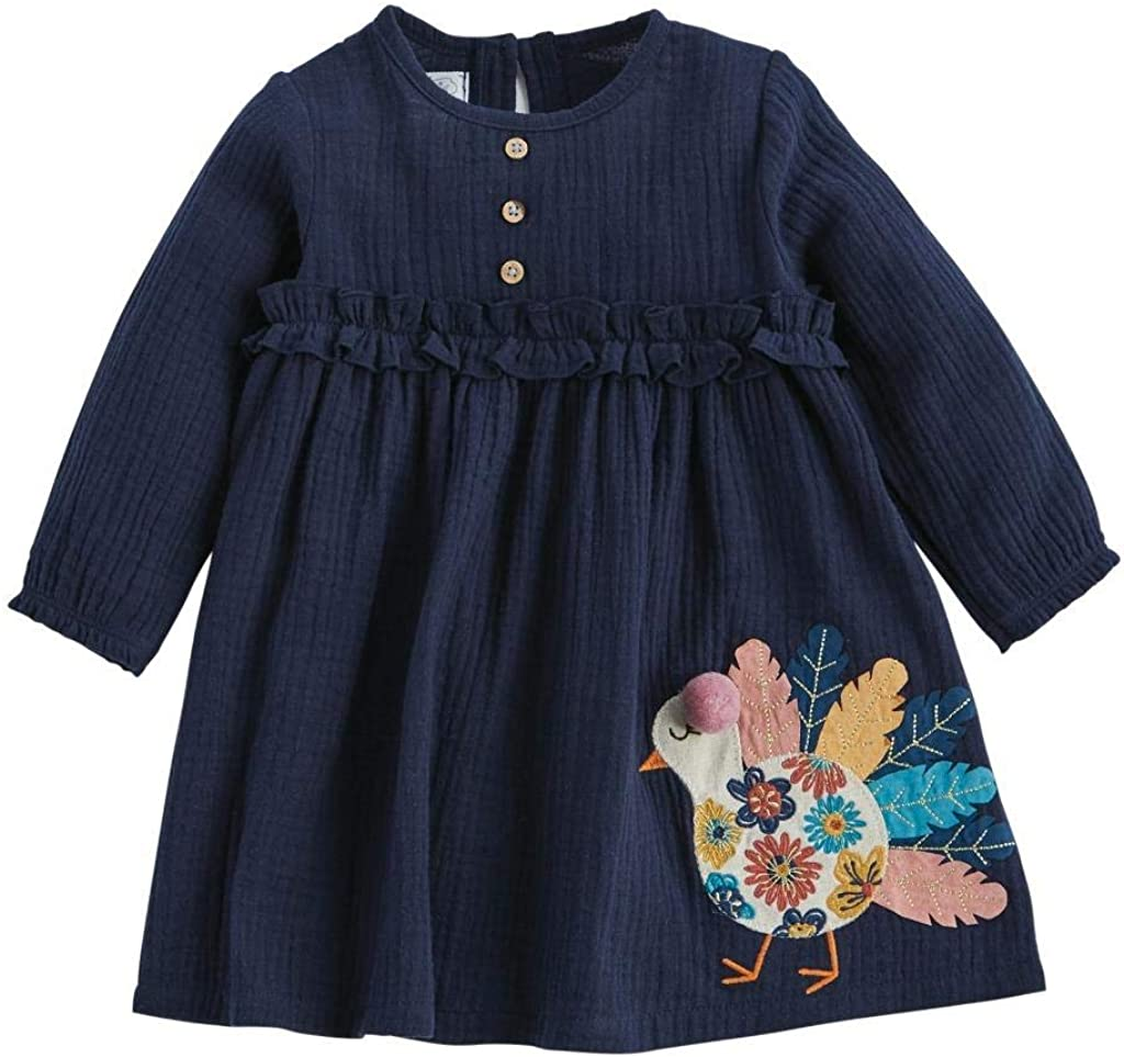 Mud Pie Baby Girls' Long Sleeve Dress