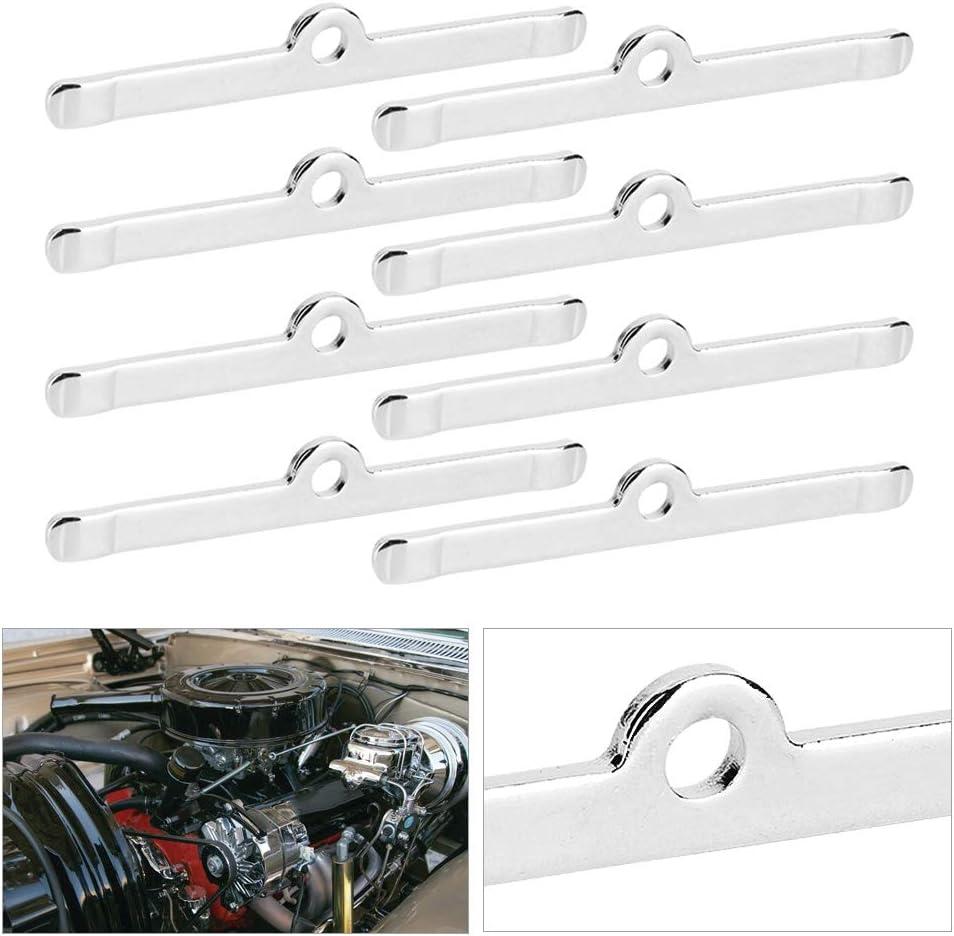 8pcs Chrome 4 3//4in Valve Cover Spreader Bars Assembly Fit for Chevy 283 305 327 350 Valve Cover Spreader Bars