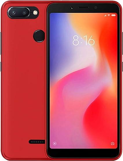 TBOC® Funda de Gel TPU Roja para Xiaomi Redmi 6: Amazon.es ...